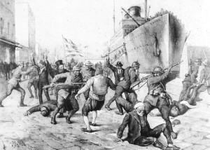 Ιταλική προπαγάνδα κατά την αποβίβαση του Ελληνικού Στρατού στην Σμύρνη.